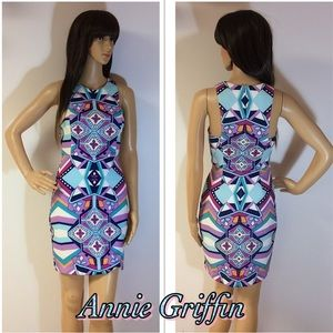 ANNIE GRIFFIN BOLD PRINT DRESS